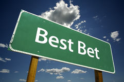 Best Bet Road Sign Stock Images