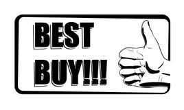 best black buy icon white Стоковая Фотография