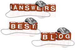 Best blog answer search stock image