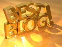 Best blog gold text Stock Photos