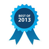 Best of 2013. Blue best of 2013 badge with ribbon Stock Photo
