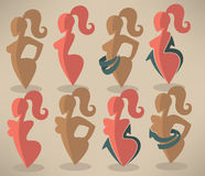 Best body, beauty and diet symbols Royalty Free Stock Photo