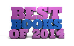 Best books of 2014. Illustration depicting the best books of 2014 Stock Photography