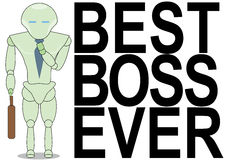 Best boss ever Royalty Free Stock Photos