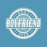 Best Boyfriend Ever T-shirt Typography, Vector Illustration Stock Image