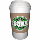 Best Brand Coffee Cup Top Leading Company. 3d Illustration Royalty Free Stock Images
