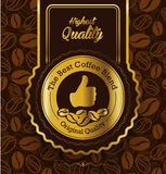 Best brand coffee label design, Premium coffee lab Stock Photos