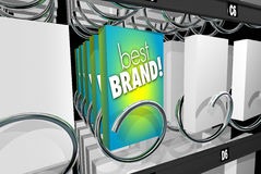Best Brand Preference Affinity Customer Loyalty Vending Machine. 3d Illustration Stock Photo