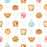 Best breakfast ever seamless pattern Stock Image