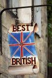 Best of British. Shop sign Pezenas France Royalty Free Stock Photos