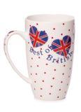 Best brytyjska herbacianej filiżanki wycinanka obrazy stock