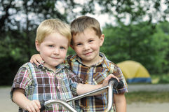 Brothers and best buddies Stock Photo