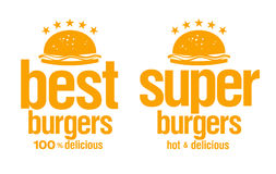 Best burgers signs. Stock Image