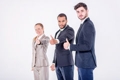 Best business dealings. Three confident and successful businessm Stock Image
