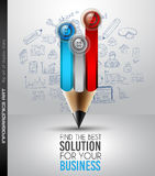 Best Business Solution Infographic Layout Template for data display Stock Images