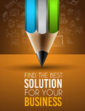 Best Business Solution Infographic Layout Template Royalty Free Stock Photography
