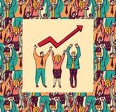 Best business team color card grow arrow Stock Photography