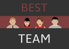 Best business team. People icons, Vector illustration Royalty Free Stock Photo