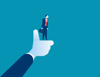 The best businessman of corporation, manager thumbs up. Concept Stock Images