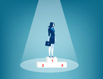 Best businesswoman of team. Concept business illustration. Vector flat Royalty Free Stock Photos