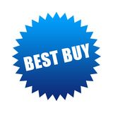 Best Buy. Blue best buy sticker isolated on white Royalty Free Stock Photo