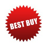 Best Buy. Red best buy sticker isolated on white Stock Photo