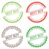 Best Buy badge isolated on white background. Royalty Free Stock Photography