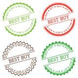 Best Buy badge isolato su fondo bianco Fotografia Stock Libera da Diritti