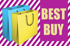 BEST BUY begrepp Royaltyfri Illustrationer