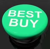 Best Buy Button Shows Promotion Offer Or Discount Stock Images