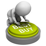 Best Buy Button Shows Superior Product Or Deal Royalty Free Stock Photos
