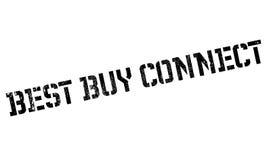 Best Buy conecta el sello de goma Foto de archivo libre de regalías