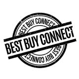 Best Buy conecta el sello de goma Imagen de archivo