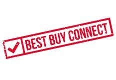 Best Buy conecta el sello de goma Fotografía de archivo