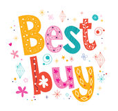 Best buy decorative lettering type design Stock Photography