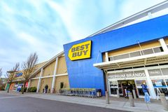 Best Buy-Detailhandel in Portland, de V.S. royalty-vrije stock foto's