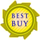 Best buy label Royalty Free Stock Photography
