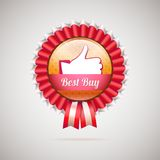 Best buy label with ribbons, vector illustration Royalty Free Stock Photography