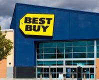Best Buy lagrar framdelen royaltyfri bild