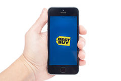 Best Buy na iPhone 5S Fotografia Stock