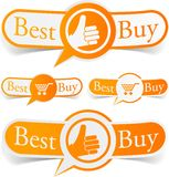 Best buy orange tags. royalty free illustration