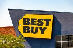 Best Buy przechuje znaka Obraz Stock