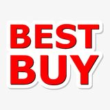 Best Buy Red Sign. On gray background royalty free illustration