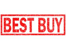Best buy red stamp text on white background. Stock Image