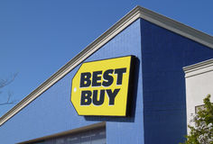 Best Buy Sign. Best Buy Co., Inc. is an American specialty retailer of consumer electronics in the United States, accounting for 19% of the market. It also Stock Images