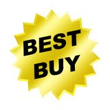 Best buy sign. Yellow best buy sign - web button - internet design Stock Image