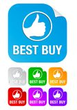 Best buy, square stickers Stock Images