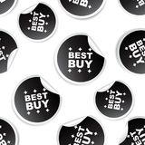 Best buy sticker seamless pattern background icon. Business flat Royalty Free Stock Images