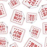 Best buy sticker seamless pattern background icon. Business flat Royalty Free Stock Photography