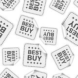 Best buy sticker seamless pattern background icon. Business flat Royalty Free Stock Photo